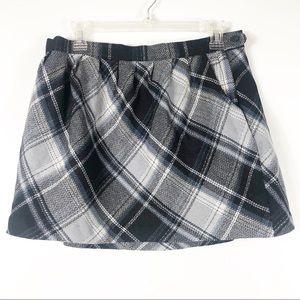 Plaid Wool Blend Tweed Mini Skirt Size 6